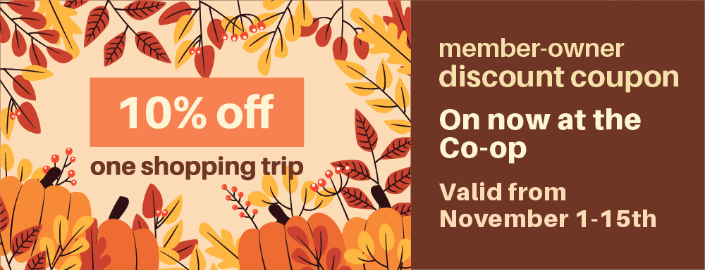 Nov-MEMBER 10% off Coupon!