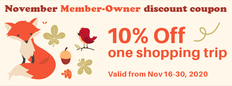 Nov 16-30 / 10% off shopping trip coupon